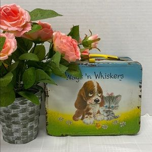 70's Lunchbox Wags 'n Whiskers Cat Dog Collectible